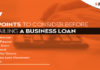Consider Before Availing A Business Loan
