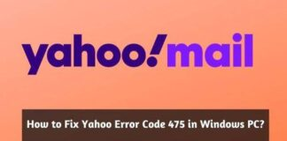 Fix Yahoo Error Code 475